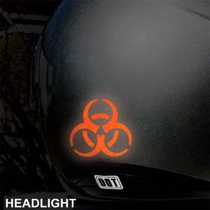 Hyper Reflective Biohazard Decal