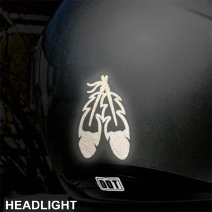 Hyper Reflective Eagle Feathers Decal