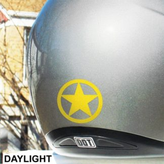Seward Street Studios Hyper Reflective Circle Star Decal