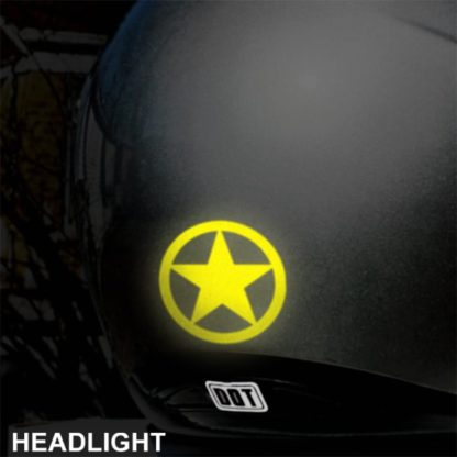 Hyper Reflective Circle Star Decal