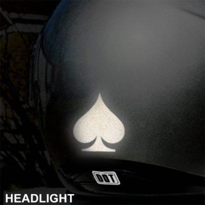 522 Hyper Reflective Spade Decal