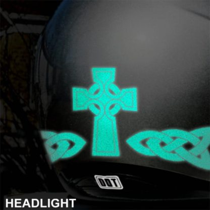Hyper Reflective Celtic Cross Decal set