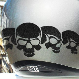 Five Skull Reflective Decal Set