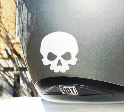 Small Hyper Reflective Skull Decal