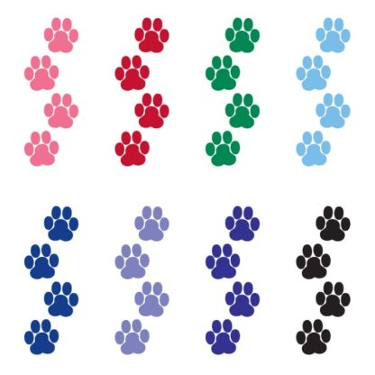 Tiny Paw Prints Vinyl Decal Set