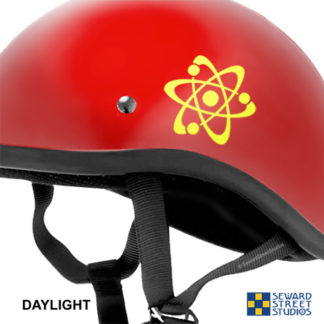 Hyper Reflective Atom Symbol Decal