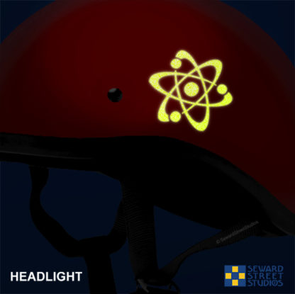 Hyper Reflective Atom Symbol Decal