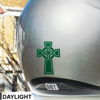 Hyper Reflective Celtic Cross Decal