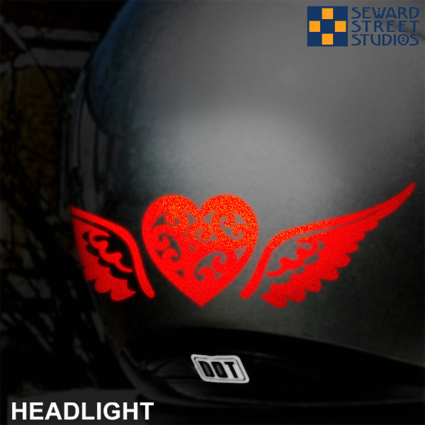 Tribal Heart With Wings Hyper Reflective Decal Set Seward Street