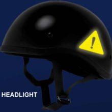 Hyper Reflective Hazard Symbol Decal