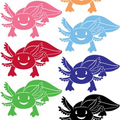 Axolotl Vinyl Decal