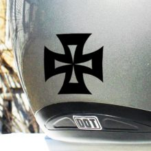 Hyper Reflective Iron Cross Decal