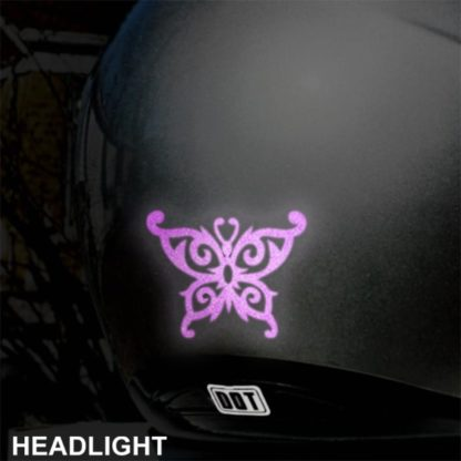 Hyper Reflective Tribal Butterfly Decal