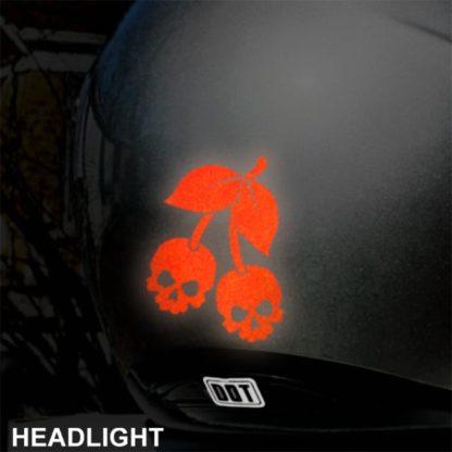 Hyper Reflective Skull Cherries Decal