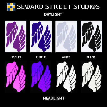 Hyper Reflective Wings Decal Set - Violet, Purple, White, Black