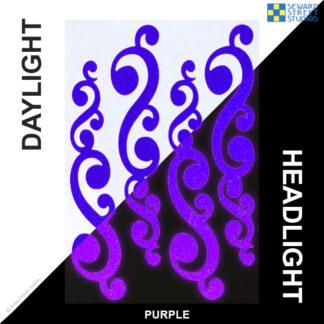 810 Purple Reflective Vintage Swirls Decal Set by Seward Street Studios