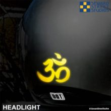Hyper Reflective Om Symbol Decal