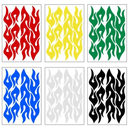 Reflective Flames Decal Set