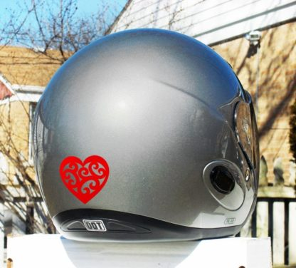 Hyper Reflective Tribal Heart Decal