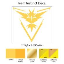 Pokemon Go Team Instinct Decal