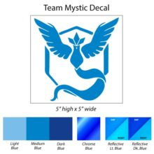 Pokemon Go Team Mystic Decal