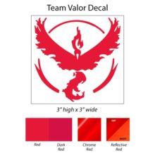 Pokemon Go Team Valor Decal