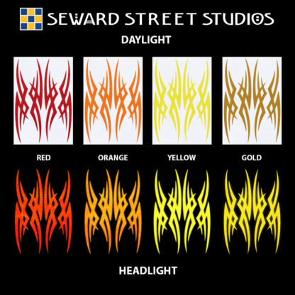 Hyper Reflective Tribal Decal Set - Red, Orange, Yellow, Gold