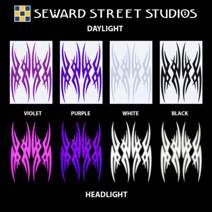 Hyper Reflective Tribal Decal Set - Violet, Purple, White, Black