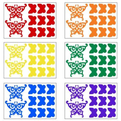 Reflective Tribal Butterflies Decal Set