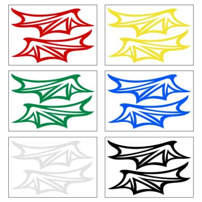 Hyper Reflective Dragon Wings Decal Set