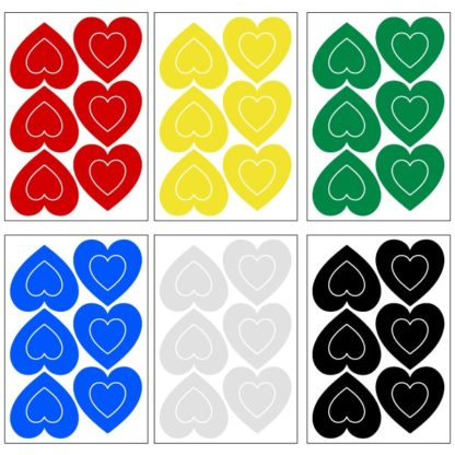 Reflective Hearts Decal Set