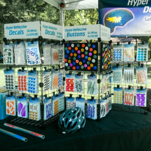 Reflective Decal Display at the Ridgeville Park Farmers Market