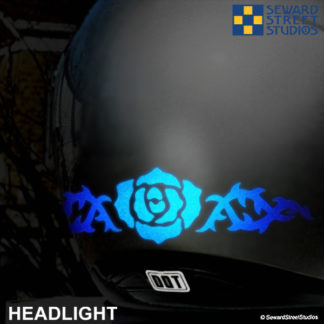 Hyper Reflective Tribal Rose Decal Set