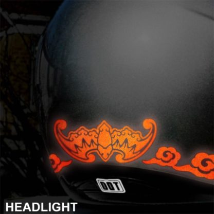 Red Reflective Fu Bat Decal Set