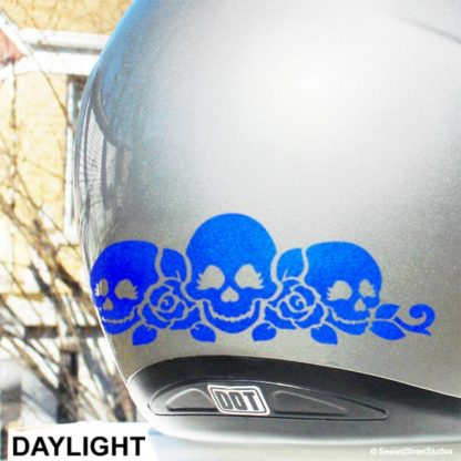 Hyper Reflective Skulls and Roses Decal Set