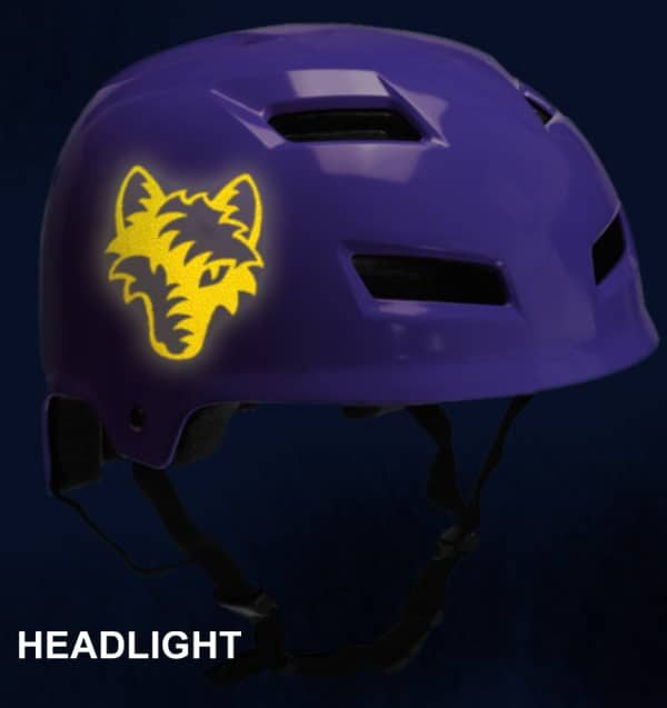 Hyper Reflective Tribal Wolf Decal
