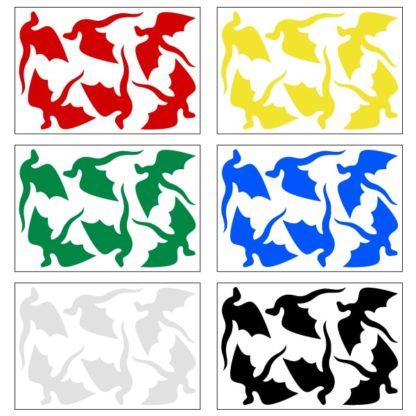 Hyper Reflective Dragons Decal Set