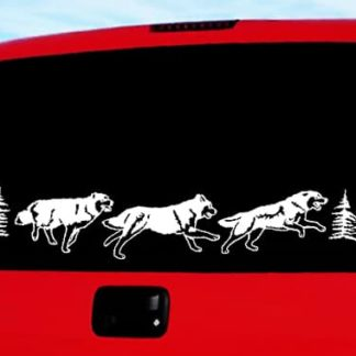 Running Wolves Vinyl Decal Kit