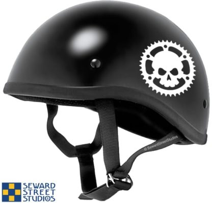 Skull Chainring Vinyl Decal