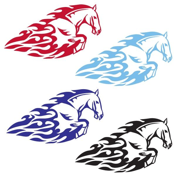 Fire Horse Vinyl Decal