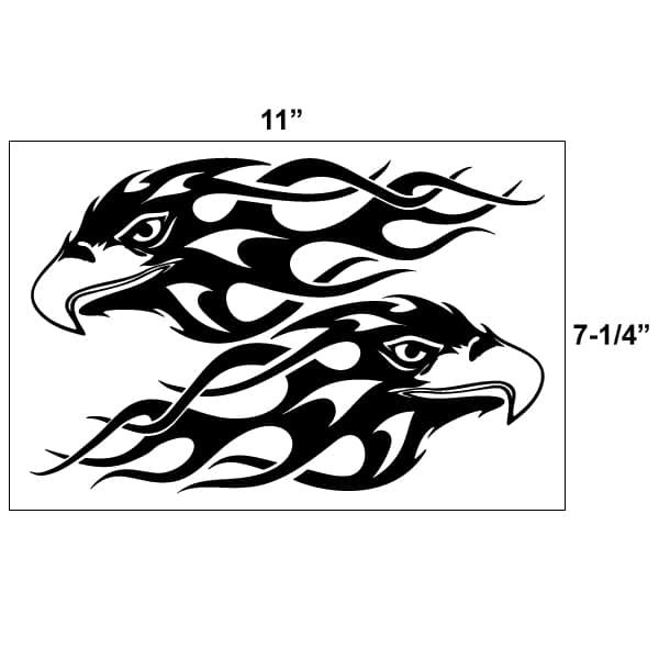 Flaming Eagles Vinyl Decal Kit