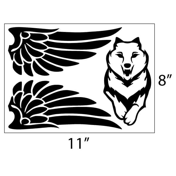 Flying Wolf Vinyl Decal Set Seward Street Studios
