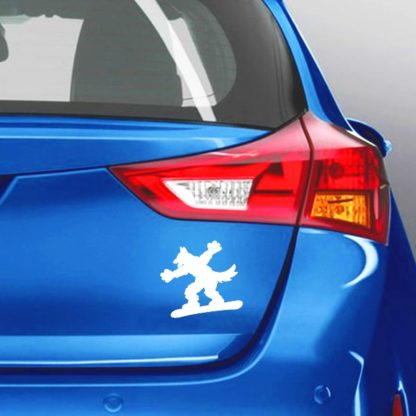 Snowboarding Dog Vinyl Decal
