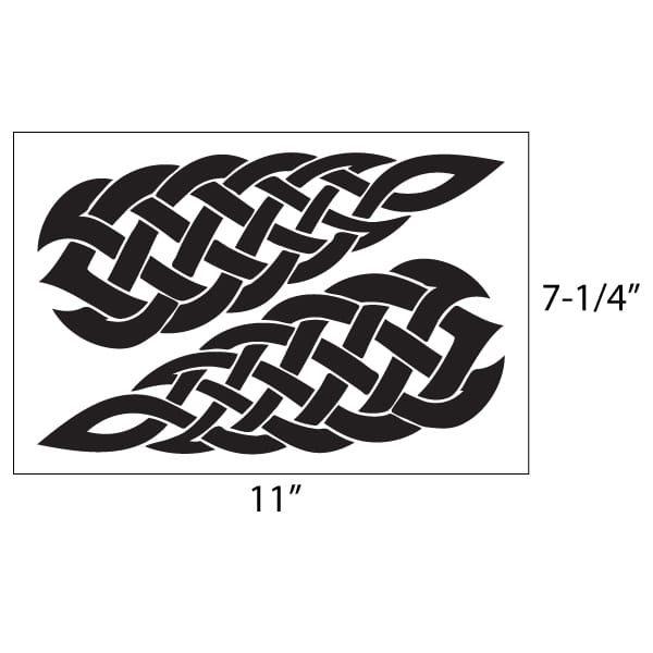 Celtic Knotwork Vinyl Decal Set.