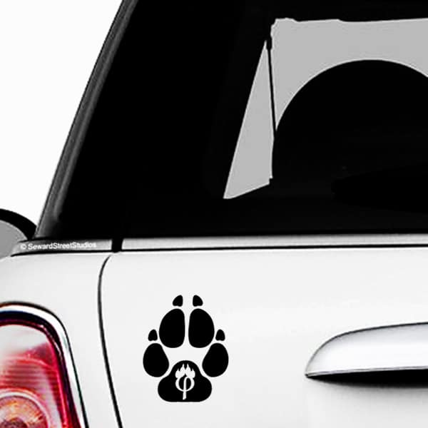 Phipaw Paw Print Vinyl Decal