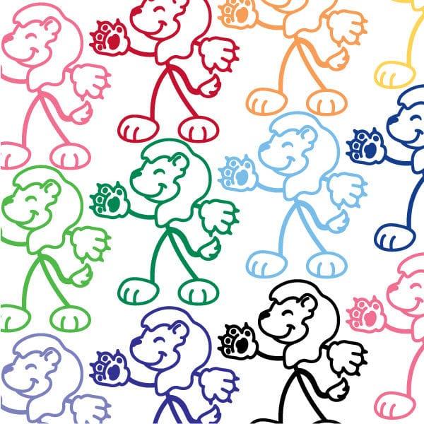 Stick Family Lion Vinyl Decal