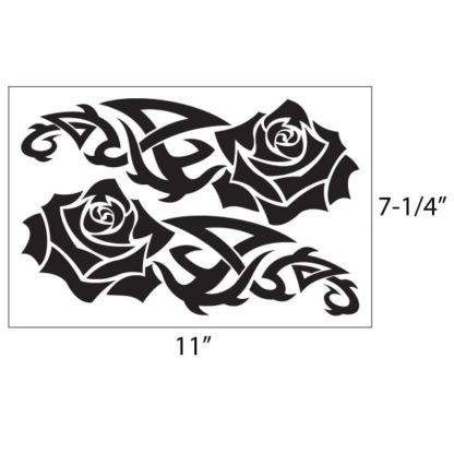 Tribal Rose Vinyl Decal Kit
