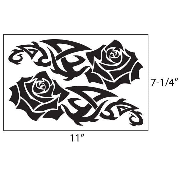 Tribal Rose Vinyl Decal Kit