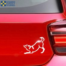 Play Bow Wolf Vinyl Decal