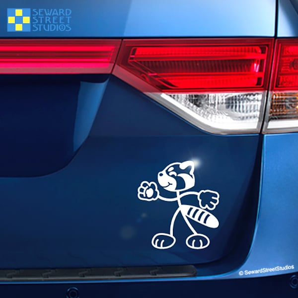 Seward Street Studios Stick Family Red Panda Vinyl Decal